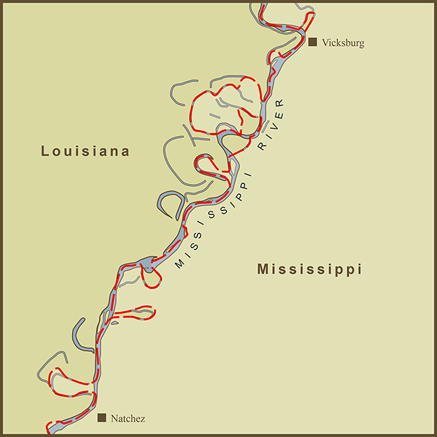 Louisiana-Mississippi, River Border Map.png