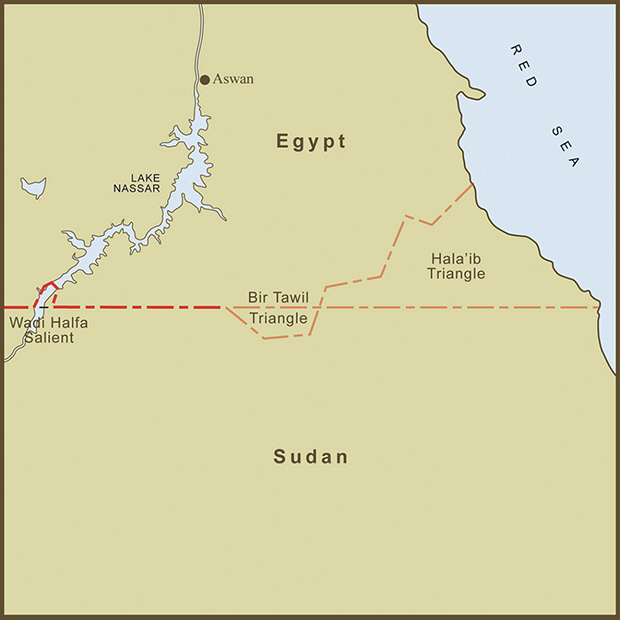 Egypt-Sudan, Bir Tawil Triangle Map.png