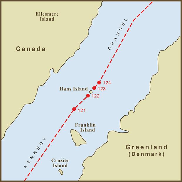 Canada-Denmark, Hans Island Map.png