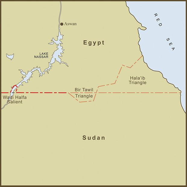 Egypt-Sudan, Bir Tawil Triangle Map.png