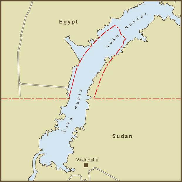 Egypt-Sudan, Wadi Halfa Salient Map.png