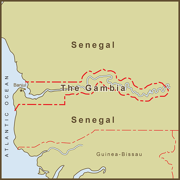 Gambia-Senegal, Border Map.png