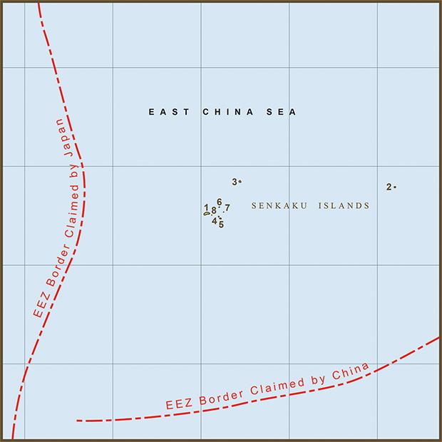 China-Japan, Senkaku Islands Map.png