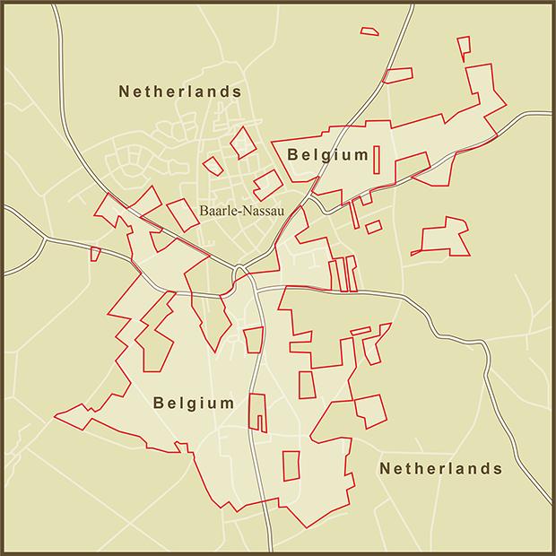 Belgium-Netherlands, Baarle Nassau Map.png