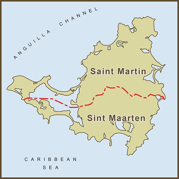 St Martin-St Maarten, Island Border Map.png