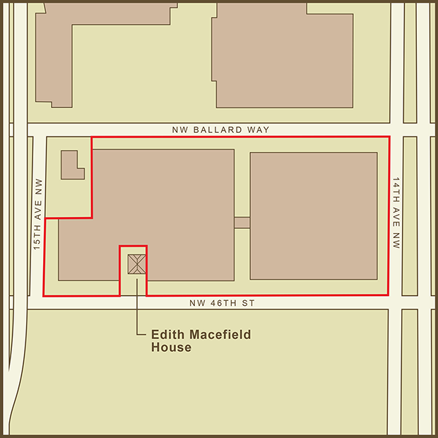 Seattle, Edith Macefield House Map.png