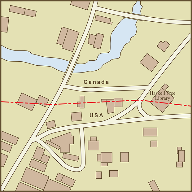 Derby Line Am Proehl - Map-of-border-between-us-and-canada