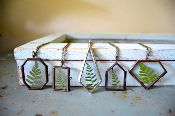 Unique and beautiful handmade fern lockets, terrariums and ceramic planters for succulents and cacti. Seana, also creates kits where you can make your own terrarium, which is a super fun interactive gift for the holidays!