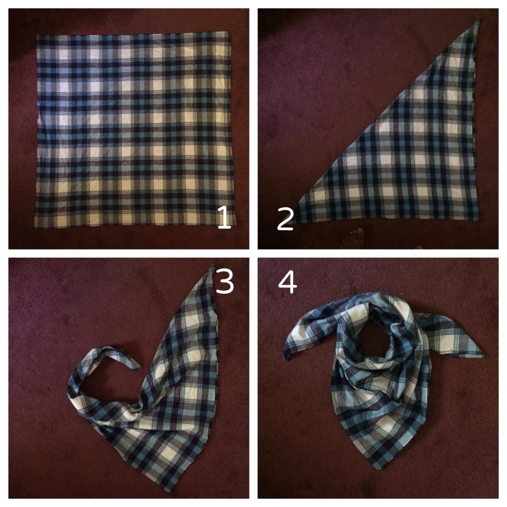 Simple Blanket Scarf Tutorial