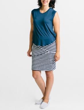Fractured Linear Jersey Skirt - geekchicfashion