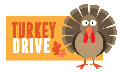 Our Turkey Drive is coming starting November 1st!!!  Ask the front desk for more details! Gobble, gobble, gobble!!!