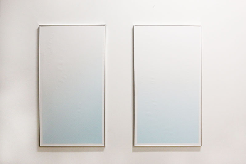 CÉU AZUL / MAR AZUL  , 2016  Debossed inkjet prints on paper, aluminum frame