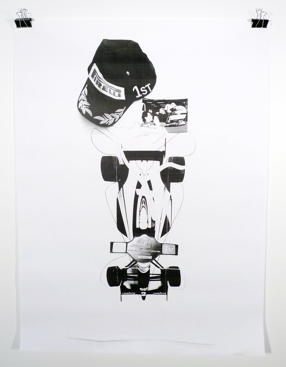 SENNA KING / BURIED  , 2015  Black and white laserjet prints
