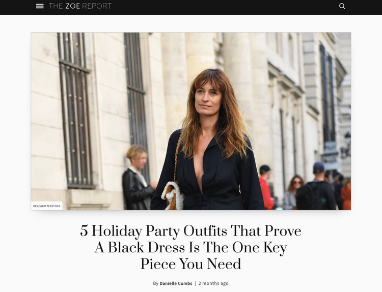 1194f237581ca The Zoe Report | 5 Holiday Party Outfits That Prove A Black Dress Is The One  Key Piece You Need