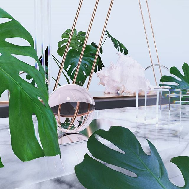 Leafy Beachy Still Life  #redshift3d #maya #motiongraphics #mdcommunity #thegraphicspr0ject #mgcollective #digitalart #mograph #autodeskmaya #visual_creatorz #lucidscreen #3d #render