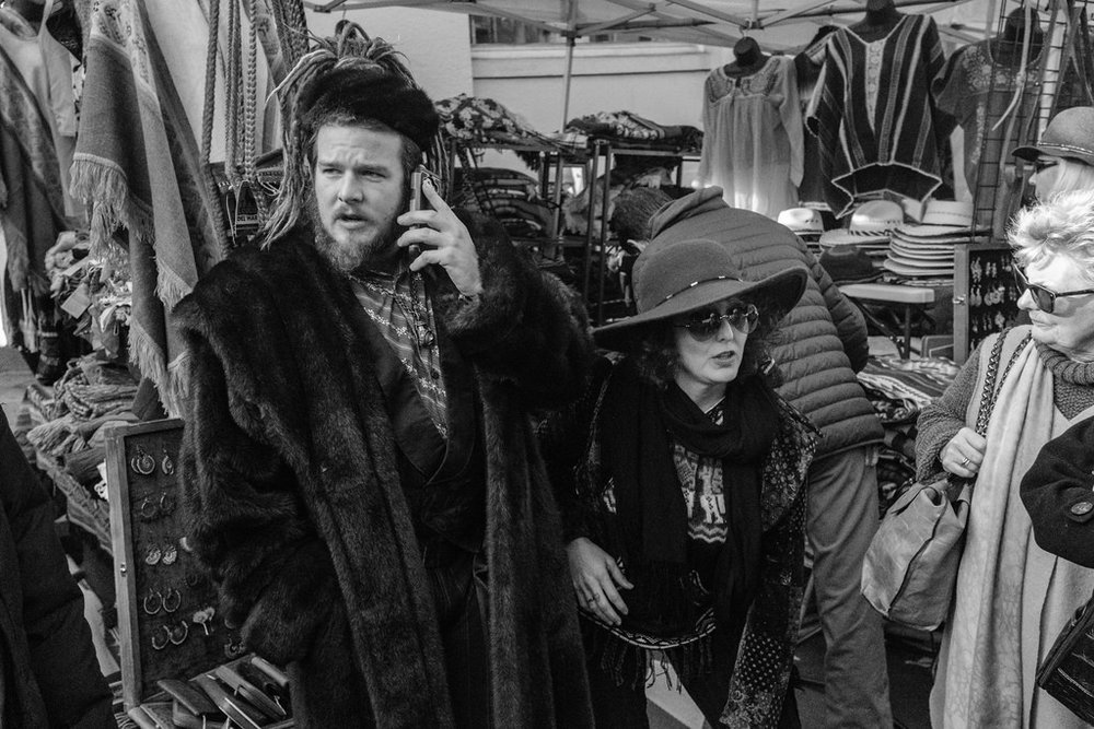 Everyone dresses up for the Christmas festivals.