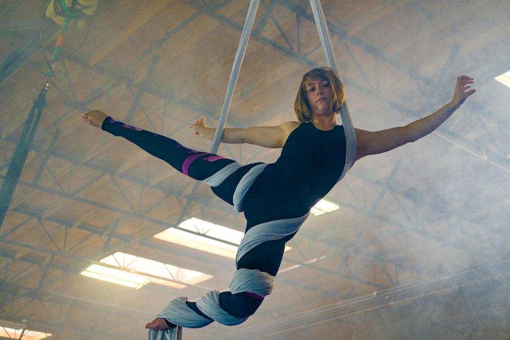The skylights brought in great natural light, but shooting into them isn't ideal.