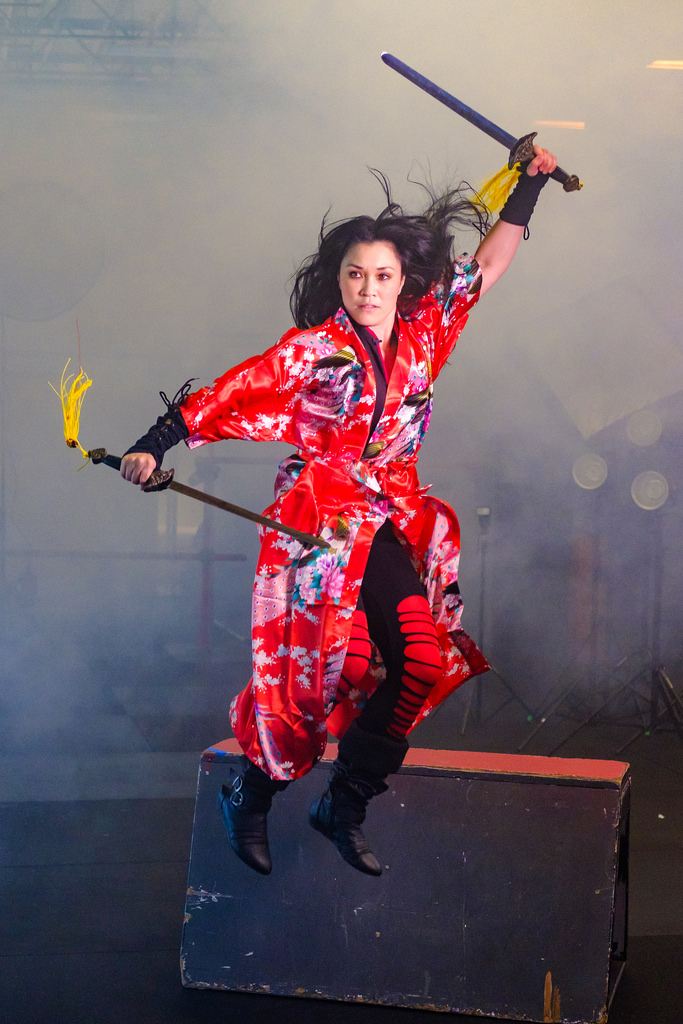 Fog machine was used and filled the warehouse with a little too much smoke. Shutter speed was 1/1000th.