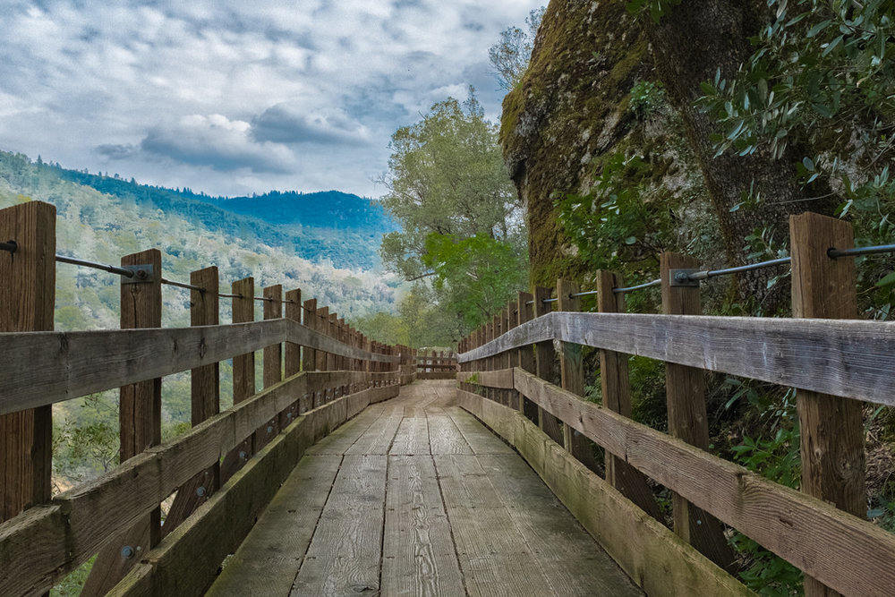 This boardwalk is found in the East trail (Go Left from main entrance). If you walk far enough, you will reach the South Yuba River.