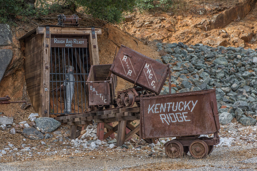 Rough and Ready has an entire mini town dedicated to Gold Mining history.
