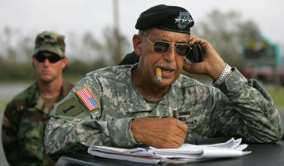 U.S. Army Lieutenant General Russel Honore in Cameron Prairie, Louisiana on September 25, 2005. Image Credit:   http://www.newsweek.com/former-army-general-lambasts-oil-industry-hijacking-democracy-269086