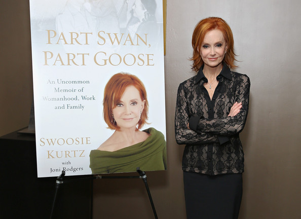 "Swoosie Kurtz discusses her new book ""Part Swan, Part Goose: An Uncommon Memoir Of Womanhood, Work, And Family"" at the Roundabout Theatre Company on April 28, 2014. Image Credit:  http://www.zimbio.com/pictures/yysMamKFLab/Swoosie+Kurtz+Reads+New+Book+Part+Swan+Part/LHTQfF4Aaw9"