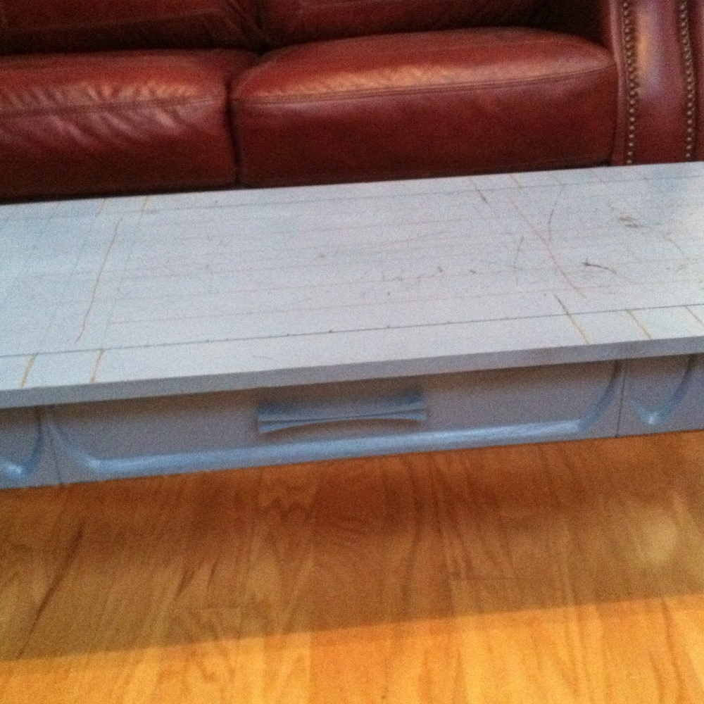 Remember the 60s coffee table in need of a makeover?