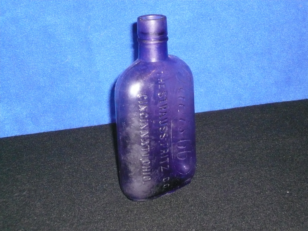 Lewis 66 purple glass flask