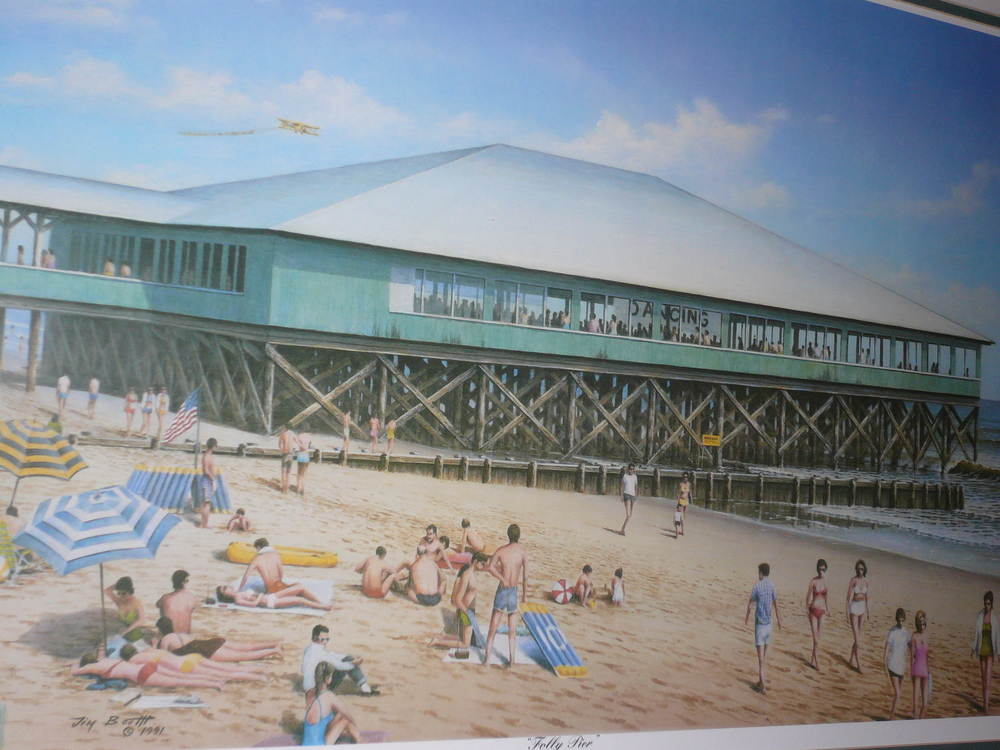 So how do I remember Folly Beach so well?  Thanks to Jim Booth's Folly Pier print hanging on my wall, it's never far away.