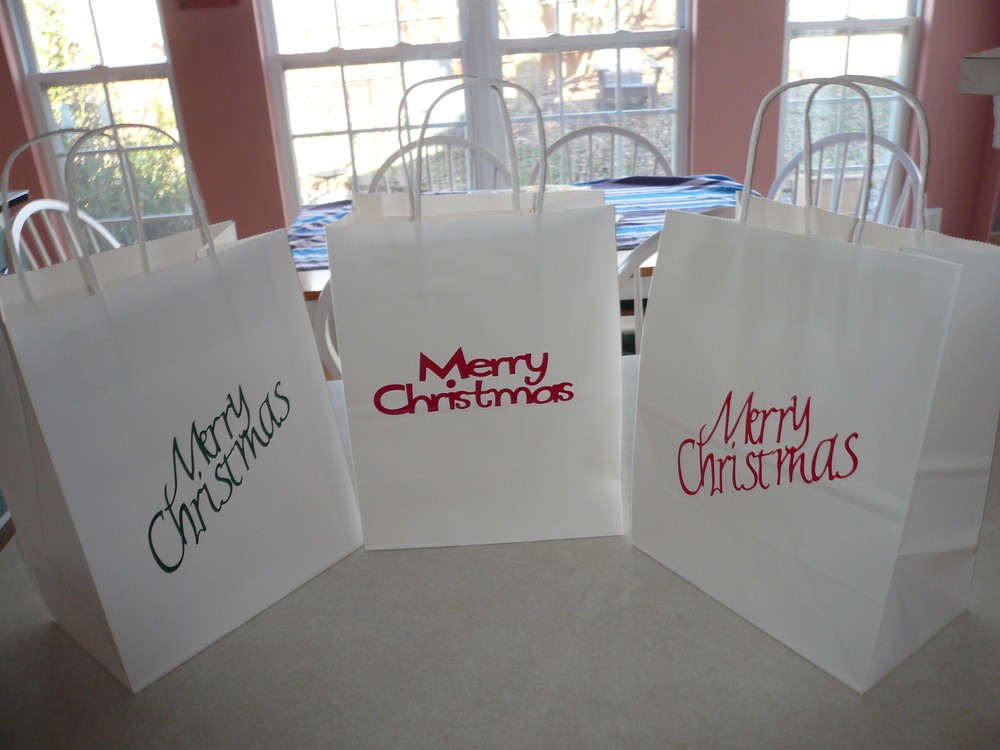 Decorated my Christmas goodies gift bags.