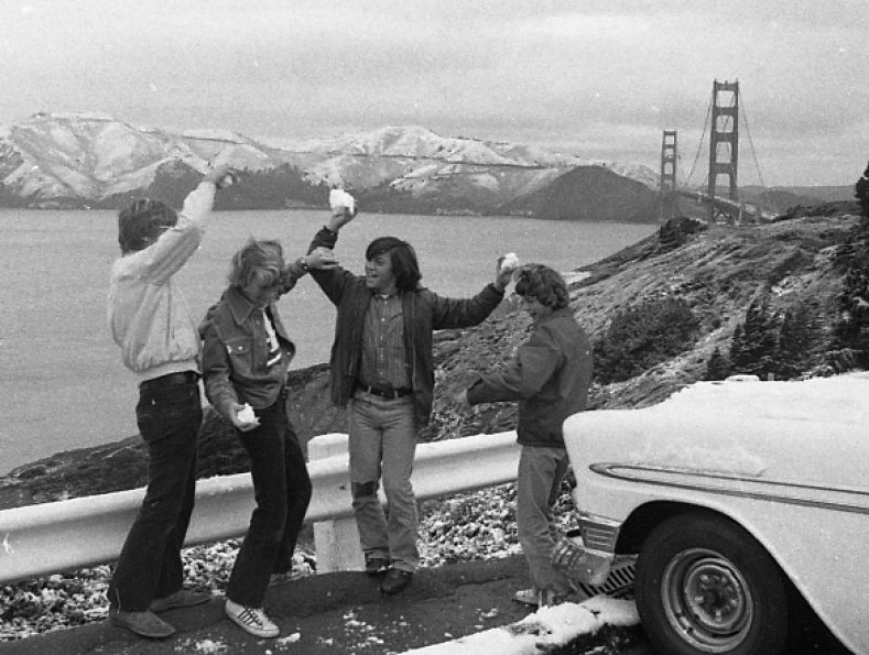 A once in every 30 year snow storm in San Francisco.