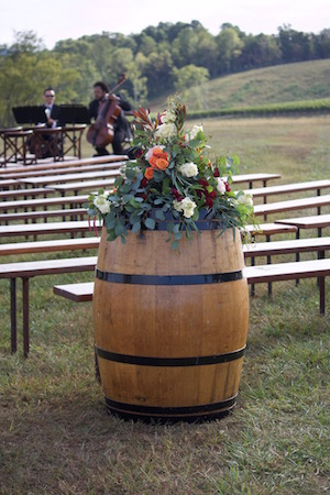 The musicians were warming up when we placed this last arrangement 45 minutes before the ceremony.