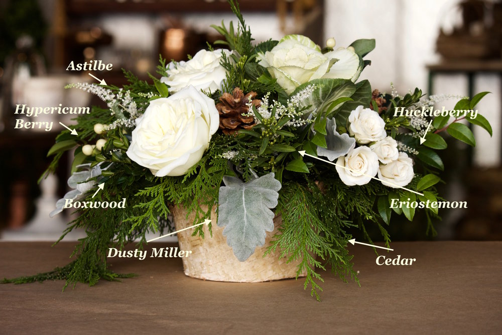 Winter-green-centerpiece