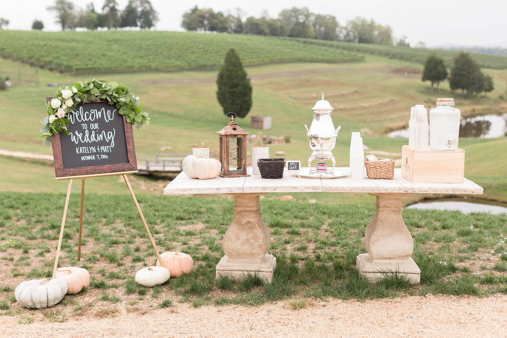Gorgeous setting at Stone Tower Winery, Loudoun County, Virginia, Photography by Candice Adelle.