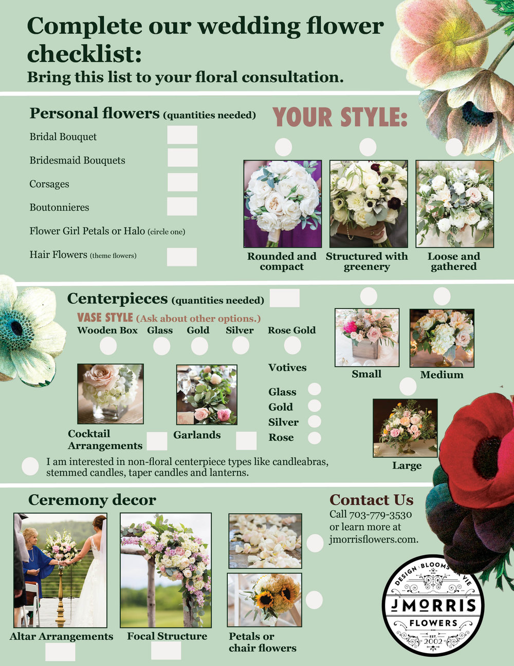 your wedding flower checklist j morris flowers
