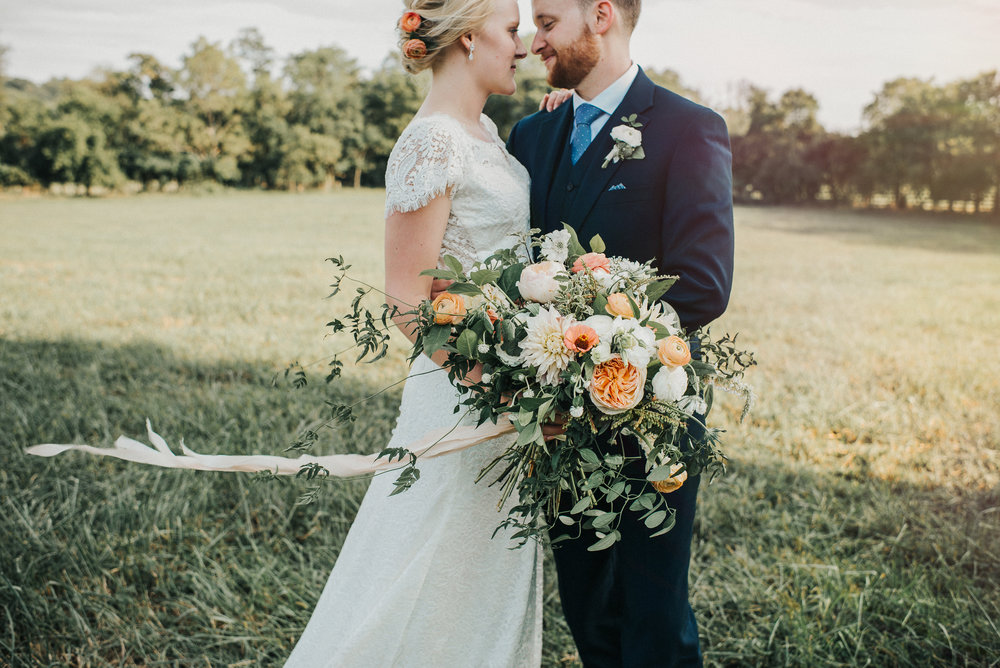 Katie and David, muted Fall bouquet