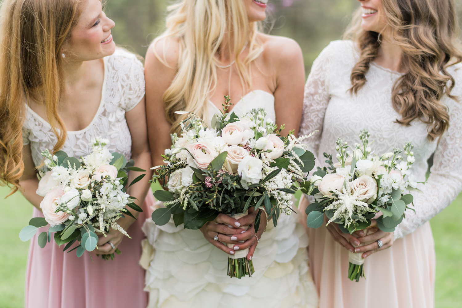 Bridal bouquets j morris flowers pale pink roses and white astilbe izmirmasajfo