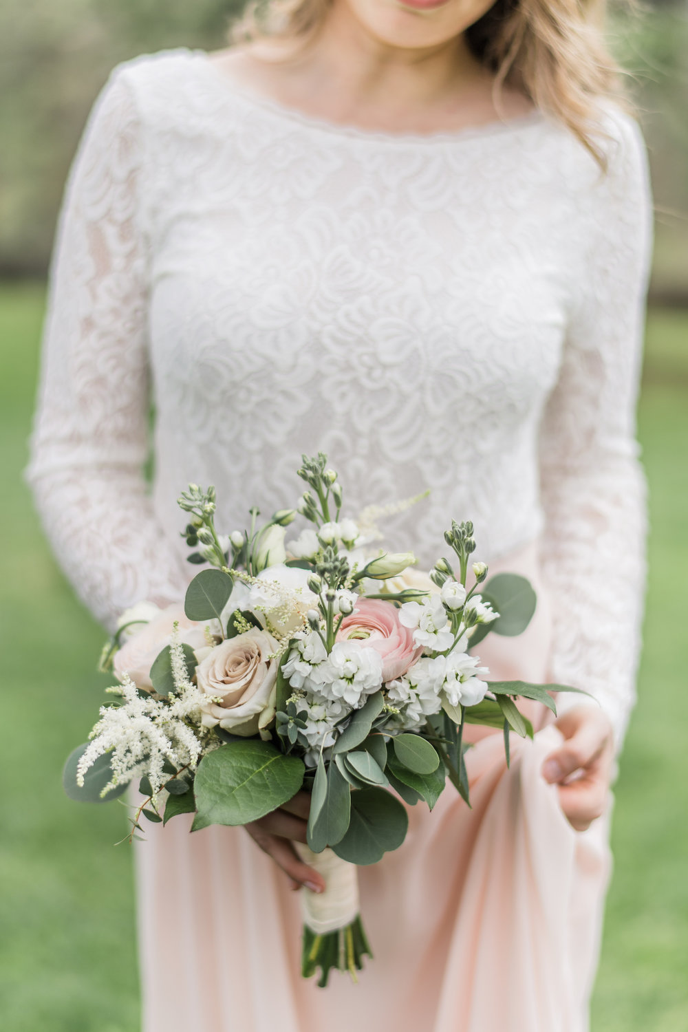 Bridal bouquets j morris flowers bridesmaid bouquet in white and pink izmirmasajfo