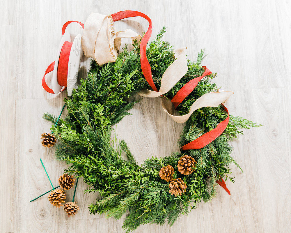 Fresh wreaths made right in our Leesburg studio.