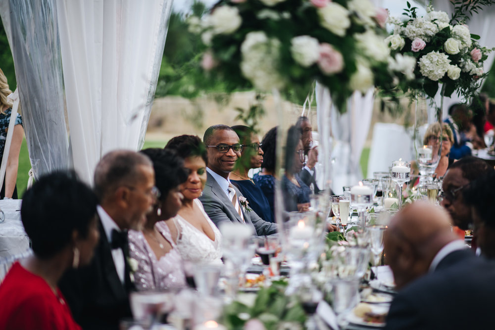 Head table photography by Chi Chi Ari at the Salamander Resort and Spa in Middleburg, Virginia.