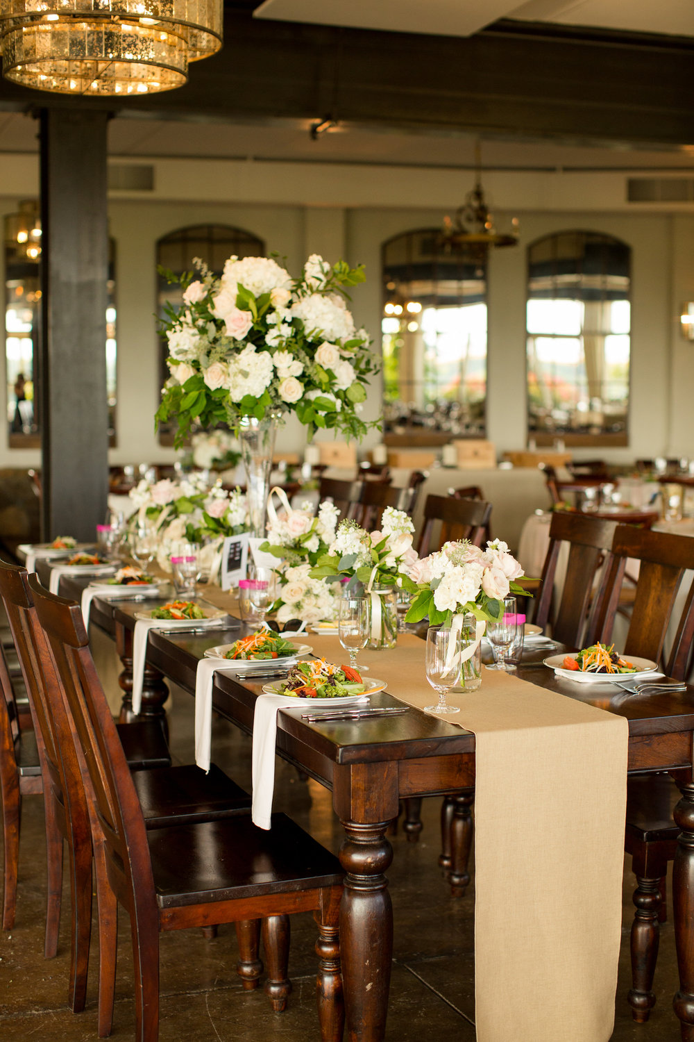 Head table decor at    Stone Tower Winery    in Leesburg, Virginia. Photography by