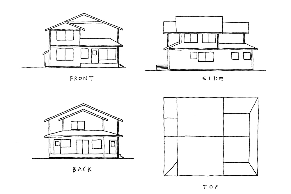 Ijust traced over the architect's CAD rendering, and extrapolated what the top would look like.