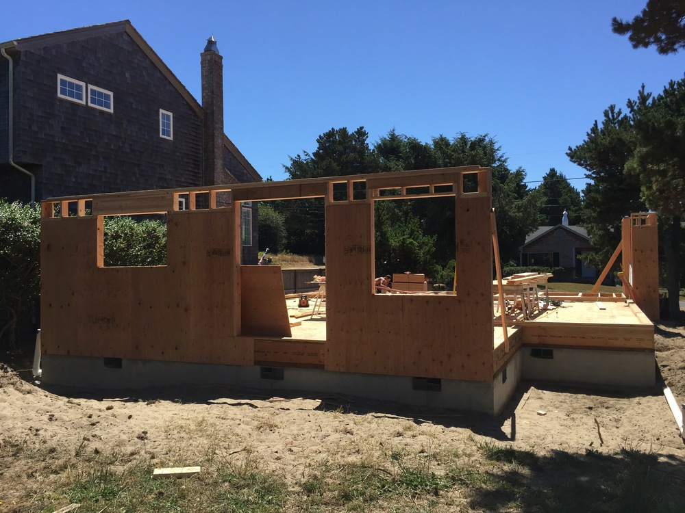 Back end of the house (kitchen, dining, mudroom, covered porch)