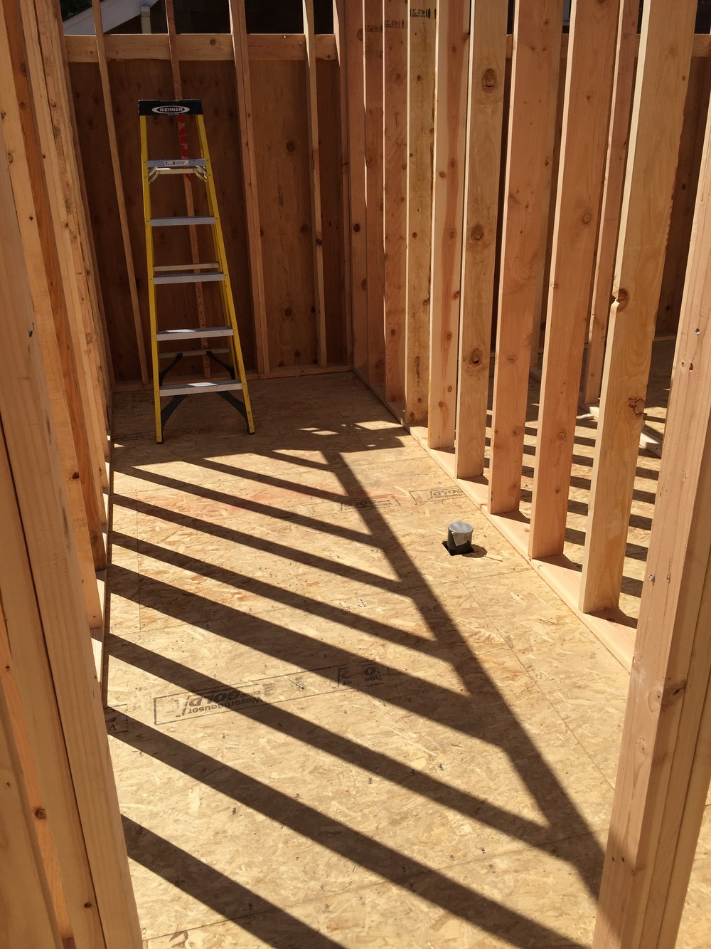 This is where the powder room and furnace / storage (towards the back,under the stairs) will be