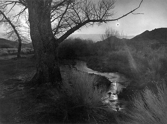 Ansel Adams.  The Black Sun, Tungsten Hills, Owens Valley, California , 1939.