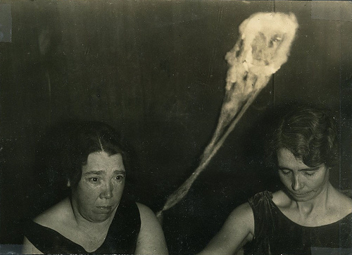 Pictured on the left is Canadian Medium Mary Marshall as photographed by T.G. Hamilton in 1929.