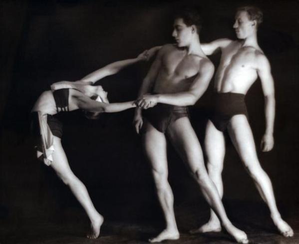 Une exhibition d'athlètes, Moscou , 1936.