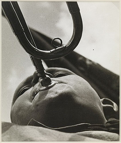 Pioneer with a trumpet , 1930.
