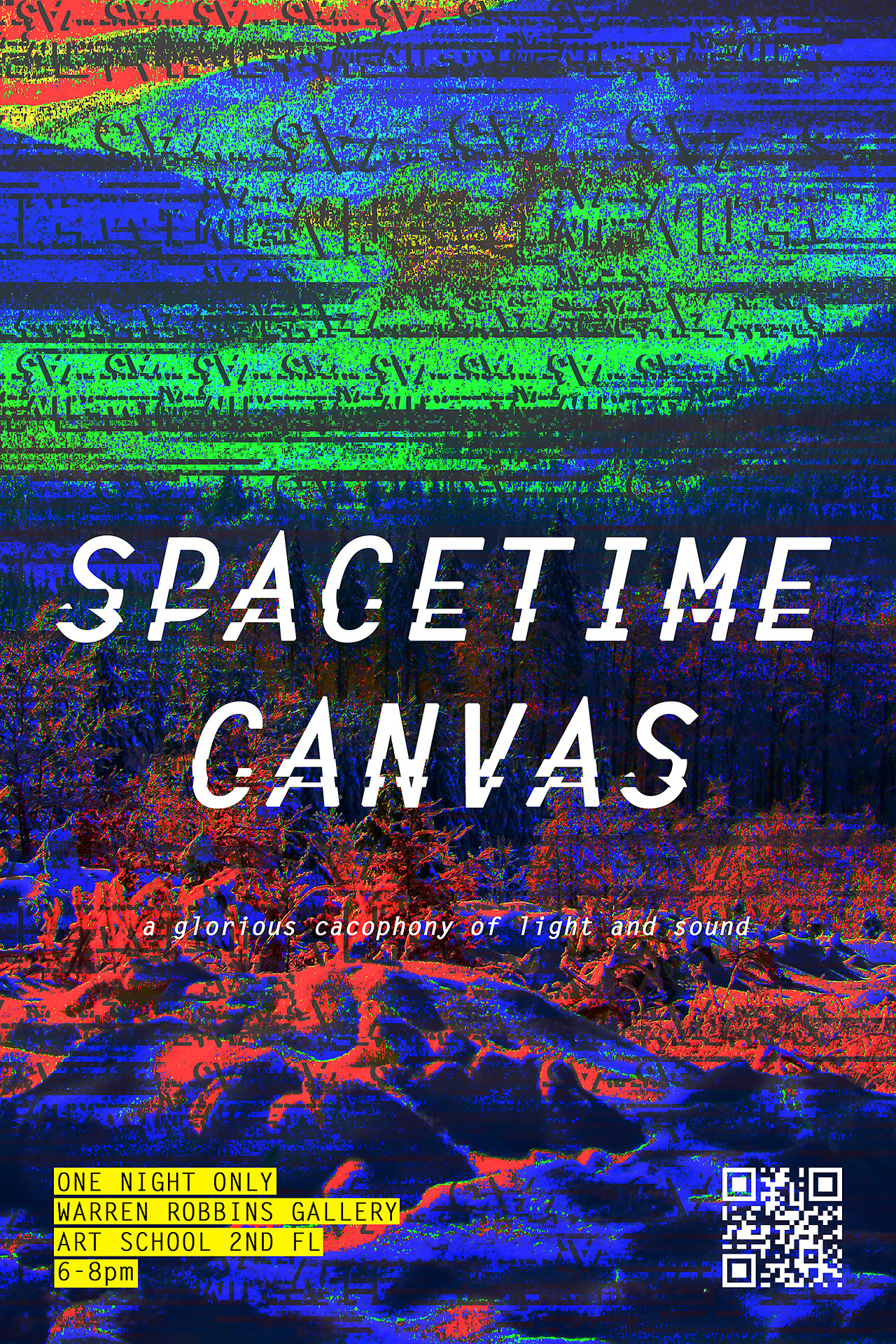 one night. one gallery. A BUNCH OF PROJECTORS.    SPACETIME CANVAS  is a projector show happening on January 24, 6-8pm. Anyone interested in film, animation, projection mapping, sculpture, audio, performance, multimedia, time, etc. can submit! (Bonus points for creativity: You can project on sculptures, paintings, people, dancing people, water, mirrors…) Together we will orchestrate a glorious cacophony of light and sound. People will literally stand in/walk through/live and breathe your art.  The art school can graciously provide some projectors (will have a number soon) but if you can Bring Your Own or make one cheaply out of a shoebox and magnifying glass [ http://  content.photojojo.com/diy/  turn-your-phone-into-a-phot  o-projector-for-1/ ] even better!         ***currently accepting [video] art submissions (to beiatrix@umich.edu) until 1/17/14.*** ***open to public 1/24/14 6pm-8pm @ warren robbins gallery (art school 2nd floor).***