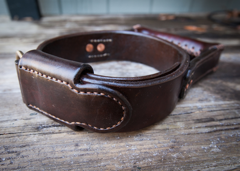Two Fools Leather Goods, Seeing Eye Dog Collar